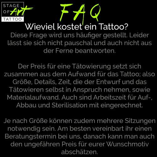 Wieviel kostet ein Tattoo?