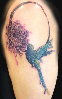 Wunderschönes Aquarelltattoo gestochen von Stage of Art Tattoo