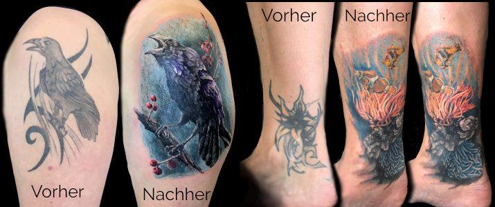 Cover up tatoos von Tätowierer Bielefeld