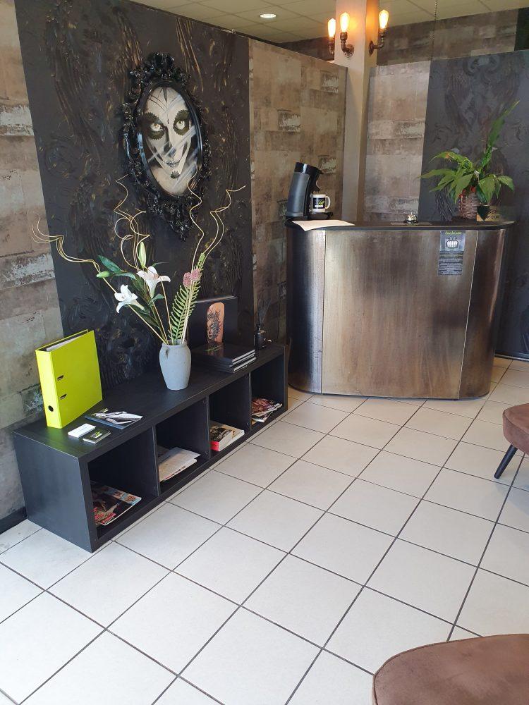 Empfangsbereich des Tattoostudio Bielefeld - Stage of Art Tattoo